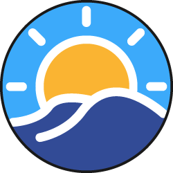 Sunny Clean Water Sticky Logo